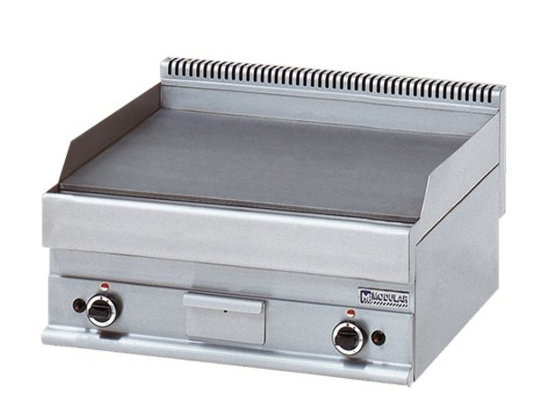 Modular Bakplaat 650 Modular - Gas - Glad - 70x65x(h)28cm - 11,4 kW
