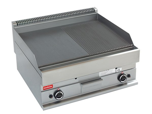 Modular 650 Modular griddle - Gas - Smooth and ribbed - 70x65x (h) 28cm - 11.4 kW