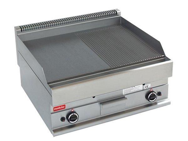 Modular 650 Modularer Grillplatte - Gas - Glatt und gerippt - 70x65x (h) 28 cm - 11,4 kW