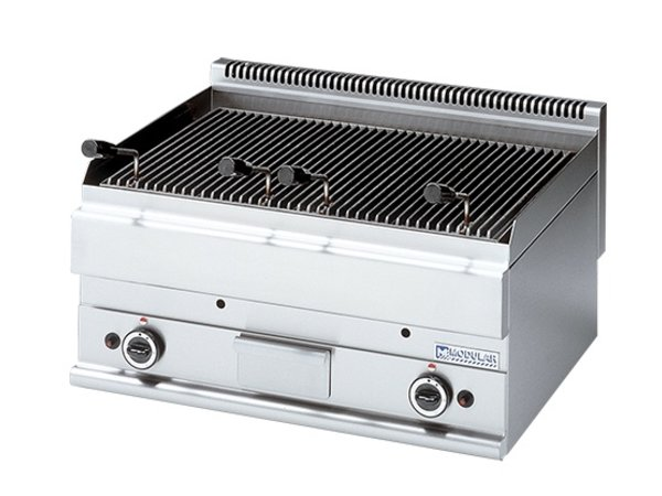 Modular Lava Stone Grill 650 Modular - Gas - Smooth - 70x65x (h) 28cm - 11 kW
