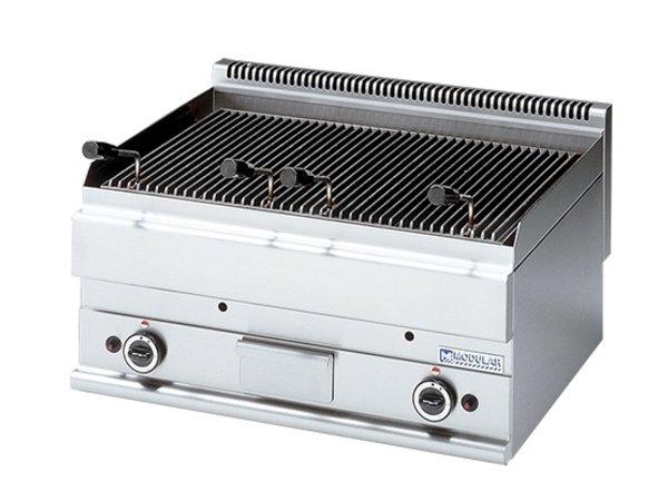 Modular Lavasteengrill 650 Modular - Gas - Glad - 70x65x(h)28cm - 11 kW