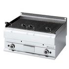 Modular Lava Stone Grill 650 Modular - Propane - Smooth - 70x65x (h) 28cm - 11 kW