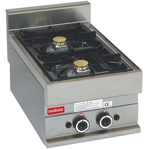 Modular 650 Modular stove - gas - 2 Pits - 40x65x (h) 28cm - 8.6 kW