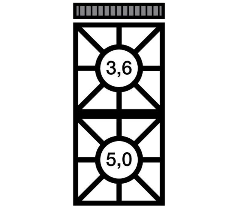 Modular Fornuis 650 Modular - Propaan - 2 Pits - 40x65x(h)28cm - 8,6 kW