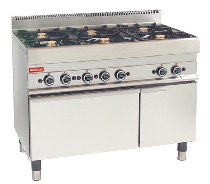 Modular Stove 650 Modular - Gas - 6 Pits With Gas Oven - 110x65x (h) 85cm - 30.8 kW