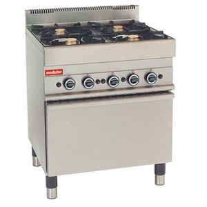 Modular Stove 650 Modular - Gas - Gas oven with four Pits - 70x65x (h) 85cm - 22.2 kW