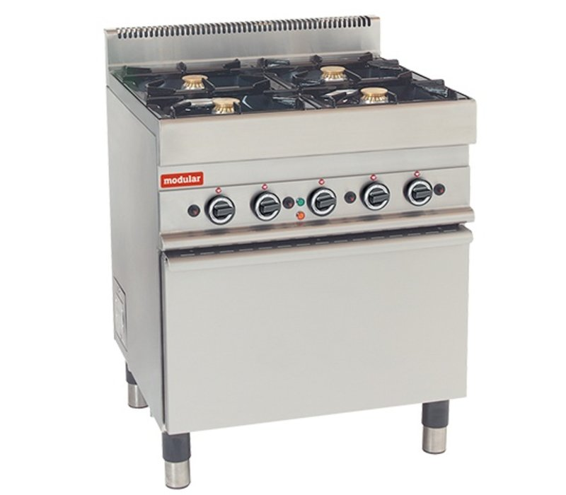 Modular Stove 650 Modular - Gas - 4 Pits With Electric Convection Oven - 70x65x (h) 85cm - 17.2 kW