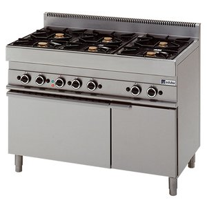 Modular Modular 650 cooker - Gas - 6 Pits With Electric Convection Oven - 110x65x (h) 85cm - 25.8 kW