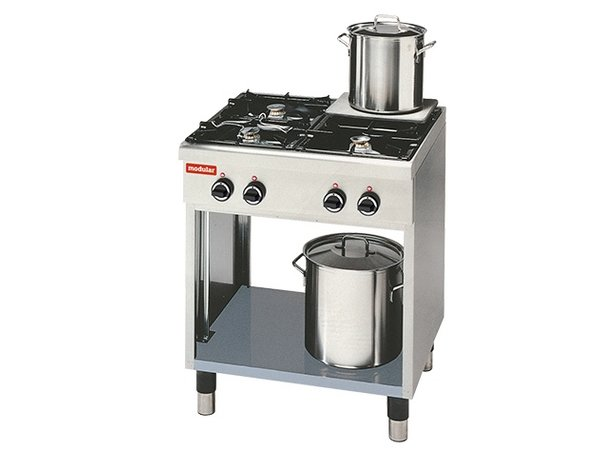 Modular Stove 650 Modular - Gas - 4 Pits With Open Frame - 70x65x (h) 85cm - 17.2 kW