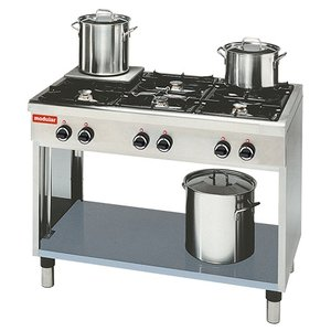 Modular Stove 650 Modular - Propane - six Pits - With Open Frame - 110x65x (h) 85cm - 25.8 kW