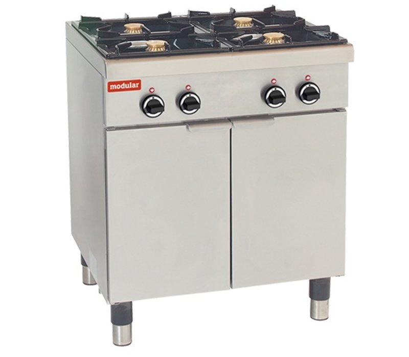 Modular 650 Modular stove - gas - 4 Burners - With Mount - 70x65x (h) 85cm - 17.2 kW