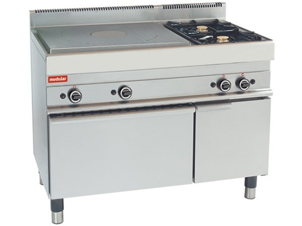 Modular Plates Stove - 650 Modular - Gas - With Two Extra Burners and Oven - 110x65x (h) 85cm - 21.8 kW