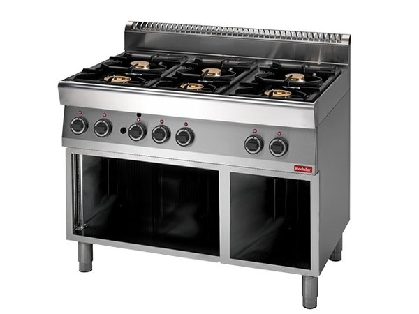 Modular Stove 700 Modular - Gas - 6 Pits - With Open Frame - 110x70x (h) 85cm - 25.8 kW