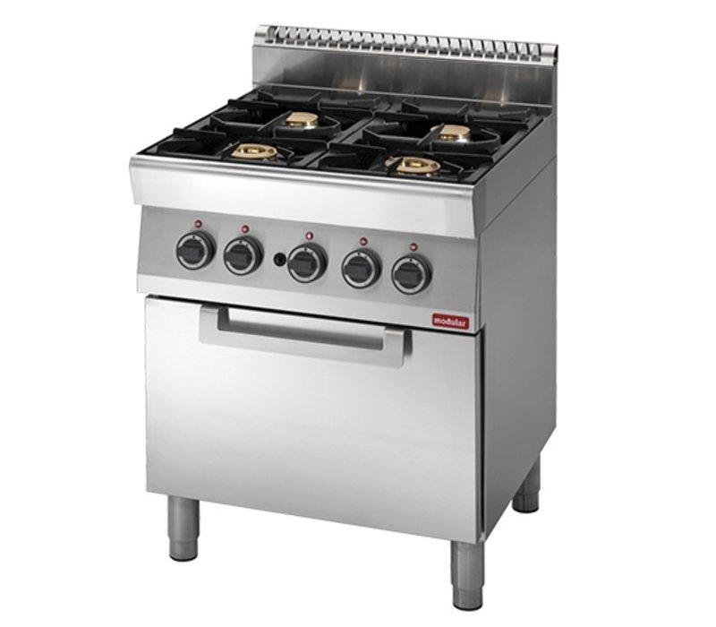 Modular 700 Modular stove - gas - 4 Burners - With Gas Oven - 70x70x (h) 85cm - 23.4 kW
