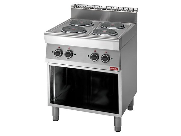 Modular 700 Modular stove - Electric - 4 Burners - With Open Frame - 70x70x (h) 85cm - 9.6 kW - 400V