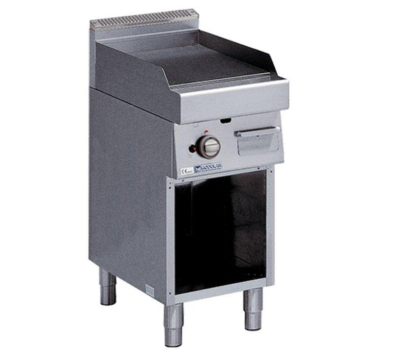 Modular 700 Modularer Grillplatte - Gas - Smooth - mit dem Berg - 40x70x (h) 85 cm - 5,7 kW