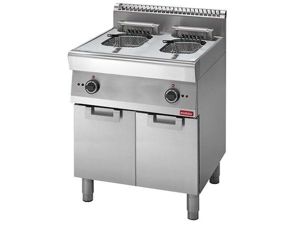 Modular fryer | electric | 700 Modular | 2 x 10 Liter | 400V | 15kW | With Mount | 700x700x (H) 850mm