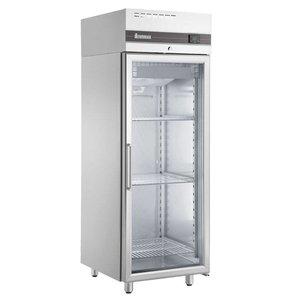 XXLselect Catering Refrigerator Stainless Steel - Glass Door - 654 Liter - 615W - 72x82x (h) 210cm
