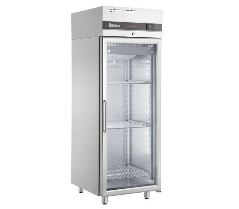 XXLselect Catering Refrigerator Stainless Steel - Glass Door - 654 Liter - 615W - 72x82x (h) 210cm