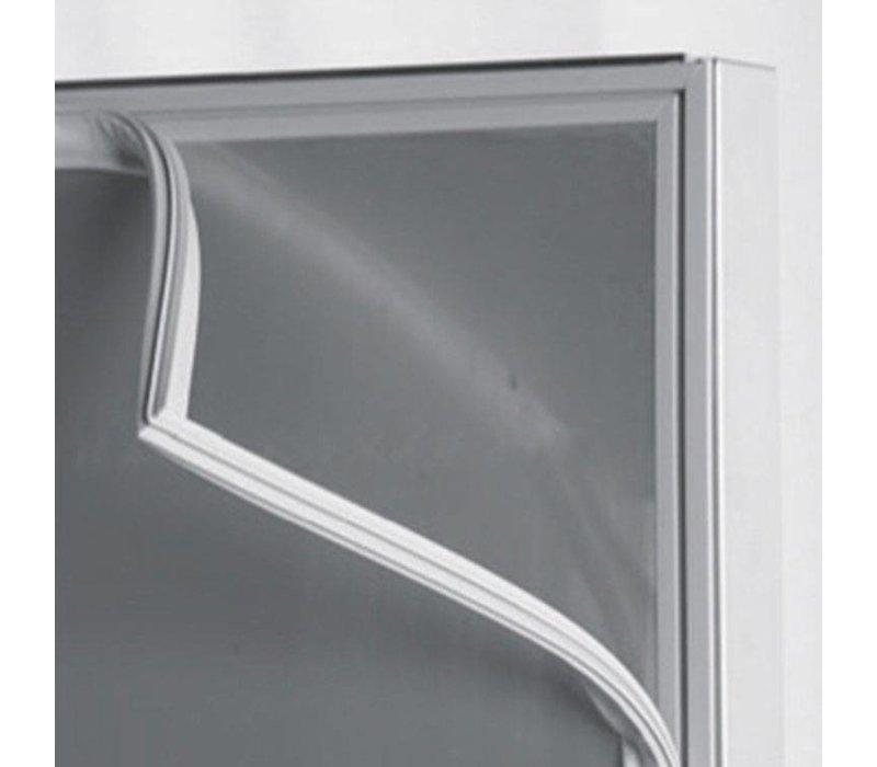XXLselect Horeca Koelkast RVS - Glazen Deur - 654 Liter - 615W - 72x82x(h)210cm