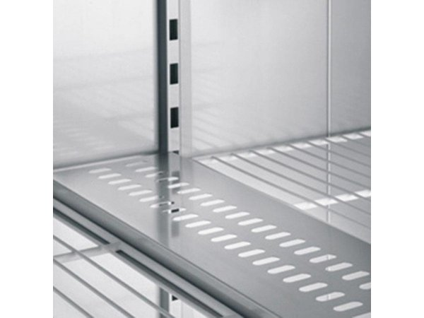 XXLselect Catering Refrigerator Stainless Steel Double - 1432 Liter - 811W - 144x83x (h) 210cm