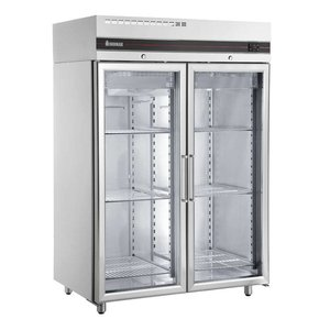 XXLselect Freezer Showcase SS - Double Glass Doors - 1432 liters - 1407 W - 144x82x (h) 212cm