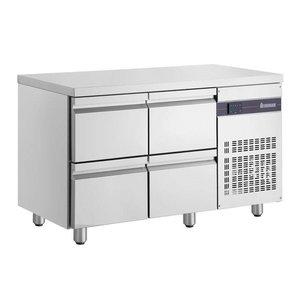 XXLselect Cool Workbench - RVS - 4 Drawers - 270 Liter - 351W - 135x70x (h) 87cm