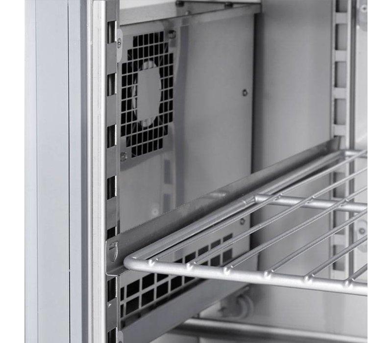 XXLselect Koelwerkbank - RVS - 4 Lades - 270 Liter - 351W - 135x70x(h)87cm