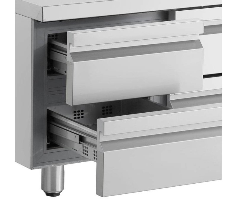 XXLselect Coole Workbench - RVS - 4 Schubladen - 270 Liter - 351W - 135x70x (h) 87cm