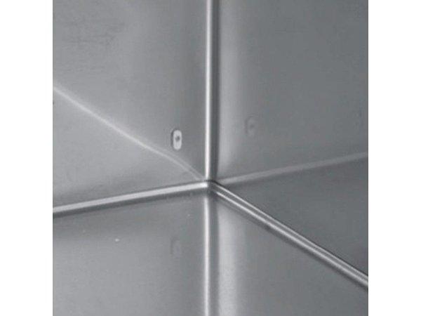 XXLselect Cool Workbench - Stainless Steel - 2 Doors - 4 Drawers - 571 Liter - 440W - 224x70x (h) 87cm