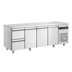 XXLselect Coole Workbench - RVS - 3 Doors - 2 Schubladen - 571 Liter - 440W - 224x70x (h) 87cm