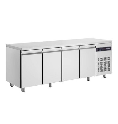 XXLselect Coole Workbench - RVS - 4 Türen - 571 Liter - 440W - 224x70x (h) 87cm