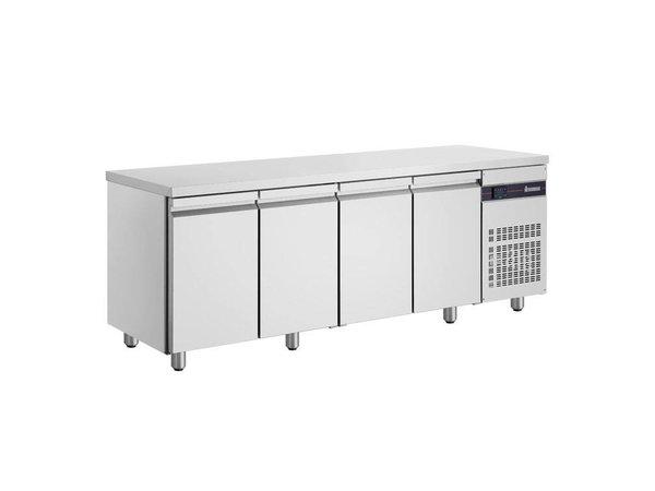 XXLselect Koelwerkbank - RVS - 4 Deurs - 571 Liter - 440W - 224x70x(h)87cm