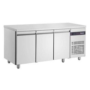 XXLselect Cool Workbench - RVS - 3 Doors - 350 Liter - 351W - 179x60x (h) 87cm