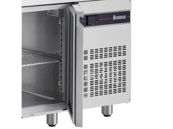 XXLselect Coole Workbench - RVS - 4 Türen - 475 Liter - 440W - 224x60x (h) 87cm