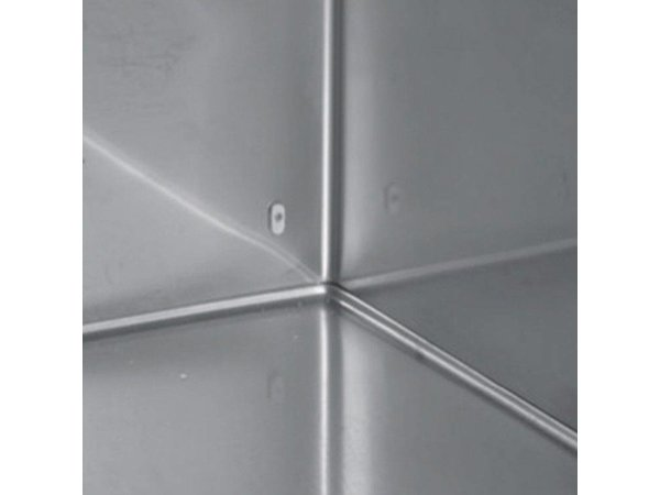 XXLselect Low Cool Workbench - RVS - 1 Door - 4 wide drawers - 245 Liter - 351W - 179x70x (h) 62cm