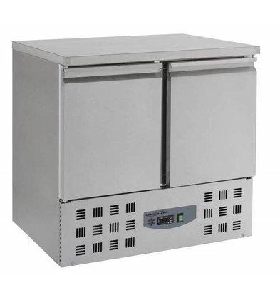 Combisteel Koelwerkbank - RVS - 2 deurs - 90x70x(h)87cm - BASIC