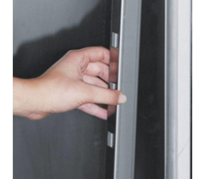 XXLselect Saladette - Stainless Steel - 2 Doors - 270 Liter - 440W - 135x70x (h) 87cm