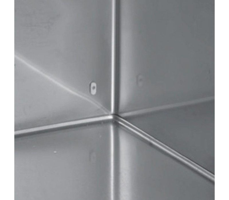 XXLselect Saladette - RVS - 3 Deurs - 421 Liter - 440W - 179x70x(h)87cm