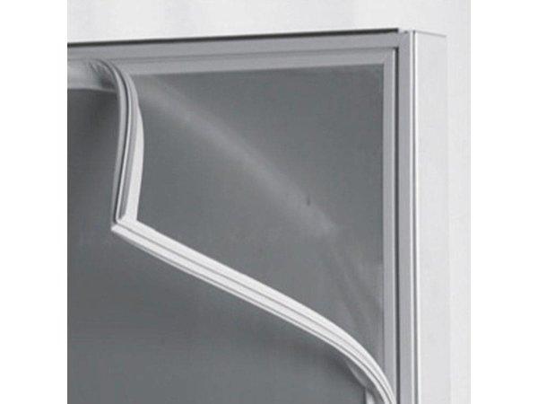 XXLselect Saladette - RVS - 3 Doors - with glass construction - 421 Liter - 461W - 179x70x (h) 130cm