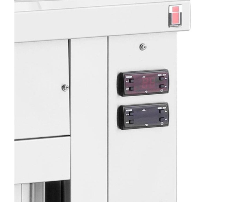 XXLselect Bain Marie - Edelstahl - Sitzunterschrank - 3850W - 3 Fächer - 1 / 1GN - 110x70x (h) 86cm