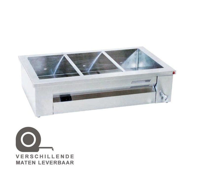XXLselect Bain Marie | Stainless steel | Structure | 3x1 / 1GN | 2000W | 107x63x (H) 27cm