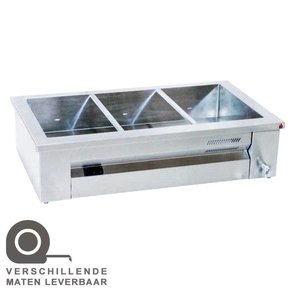 XXLselect Bain Marie | Stainless steel | Structure | 4x1 / 1GN | 2600W | 140x63x (H) 27cm