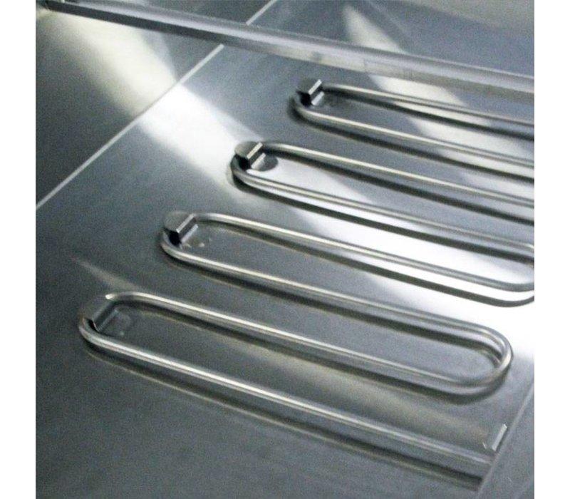 XXLselect Bain Marie - RVS - absichtlich - 2480W - Glasbau - 3x 1 / 1GN - 107x63x (h) 27 cm