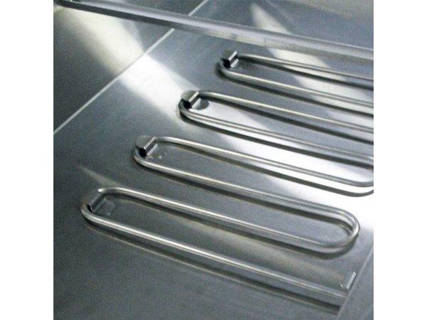 XXLselect Bain Marie - RVS - Opzet - 2640W - Glasopbouw - 4x 1/1GN - 140x63x(h)27cm