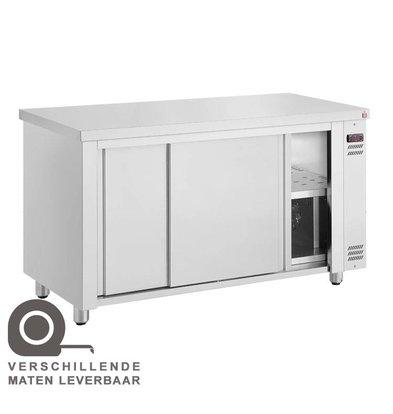 XXLselect Tellerwärmer Wärmeschrank - Edelstahl - 1450 W - 110x70x (h) 86cm