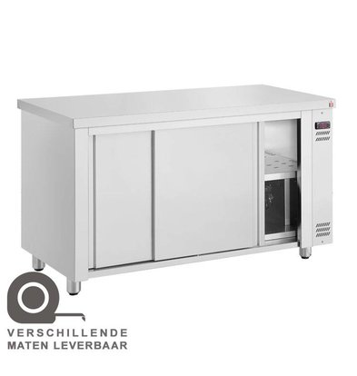 XXLselect Bordenwarmer Warmhoudkast - RVS - 1450W - 140x70x(h)86cm