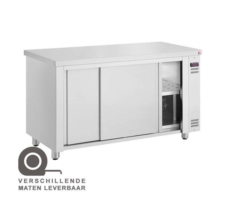 XXLselect Signs Warmer Wärmeschrank - Edelstahl - 1450 W - 140x70x (h) 86cm