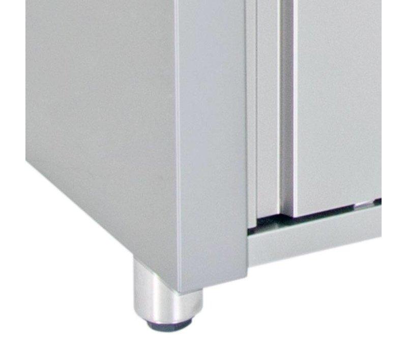 XXLselect Tellerwärmer Wärmeschrank - Edelstahl - 1850W - 160x70x (h) 86cm