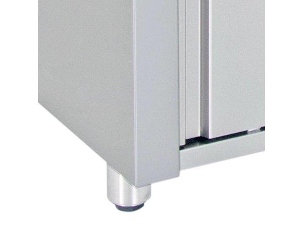 XXLselect Wärmeschrank - Edelstahl - 1850W - 190x70x (h) 86cm